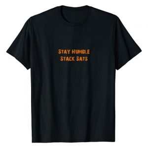Bitcoin Stay Humble Stack Sats Tees Graphic Tshirt 1 Bitcoin Stay Humble Stack Sats T-Shirt