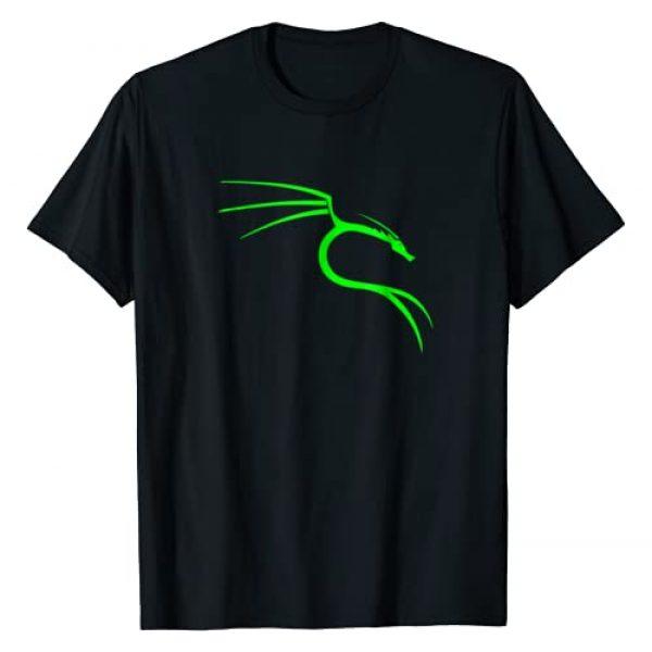 Funny Hacker Themed Tees Graphic Tshirt 1 Cool Hacker Nerd Tees - Kali Linux Dragon T-Shirt