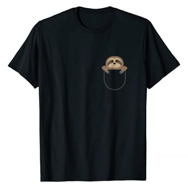 Unknown Graphic Tshirt 1 Chillin Sloth Pocket T-Shirt, Funny Sloth In Your Pocket Tee