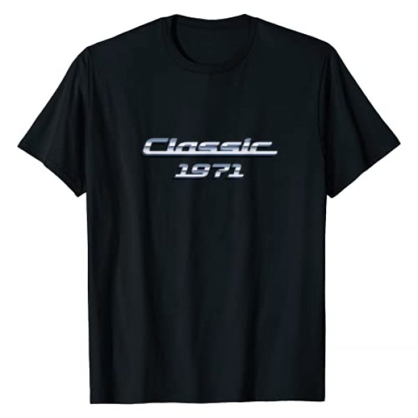 BORN Graphic Tshirt 1 Gift for 49 Year Old: Vintage Classic Car 1971 49th Birthday T-Shirt
