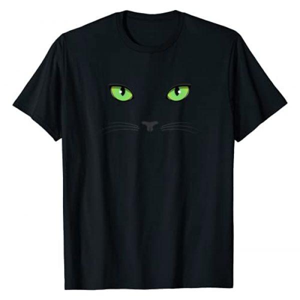 Catastic Apparel Graphic Tshirt 1 Black Cat Green Eyes - T-Shirt T-Shirt