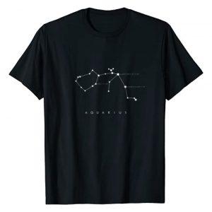 Constellation T-Shirt Graphic Tshirt 1 Aquarius Constellation T-Shirt - Astronomy Stargazing
