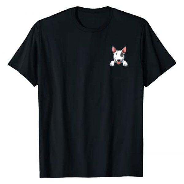 PeekingZoo Graphic Tshirt 1 Bull Terrier Pocket Bull Terrier Peeking Out Pocket T-Shirt