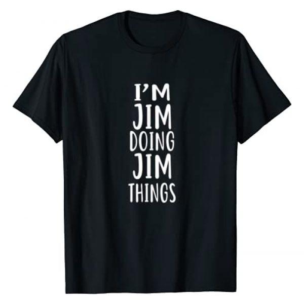 VKOKAY Graphic Tshirt 1 I'm JIM Doing JIM Things T-Shirt novelty humor shirt T-Shirt