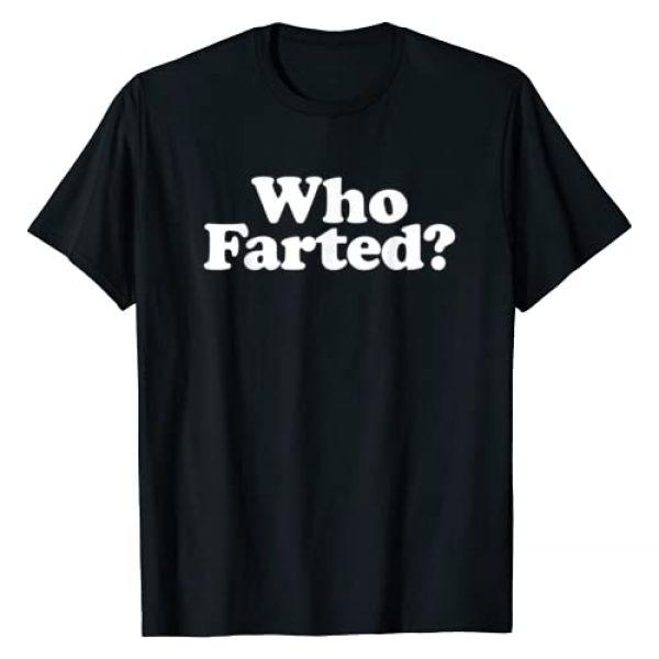 Miftees Graphic Tshirt 1 Who Farted funny fart joke T-Shirt
