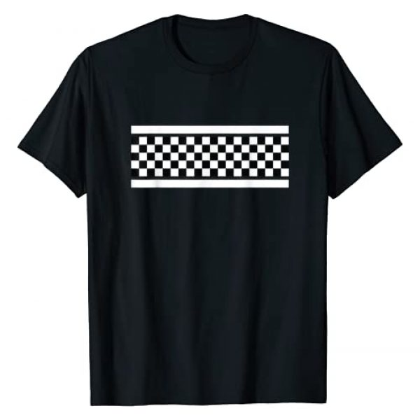 Checkered Black And White Pattern Apparel Co Graphic Tshirt 1 Checkered Black And White Pattern Surfing And Skateboard T-Shirt