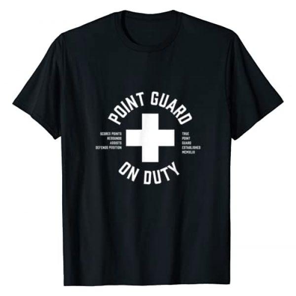 Hoopchalk Basketball Podcast Graphic Tshirt 1 Point Guard Basketball Shirt - Bball Life Guard T-Shirt