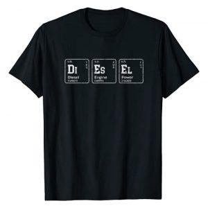 Diesel Graphic Tshirt 1 Element Tables, Diesel Truck Breakdown Makeup T-Shirt