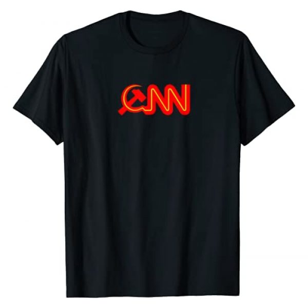 Down Bubble Graphic Tshirt 1 Communist News Network funny Fake News T-Shirt