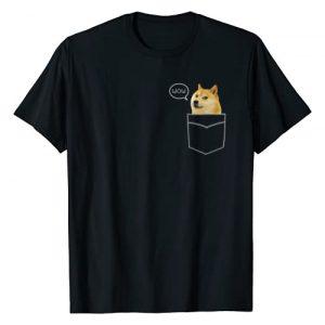 Pocket Doge Very Meme T-Shirts Graphic Tshirt 1 Shiba Inu T Shirt Pocket Doge Such Wow Dank Pixel Cute Dog T