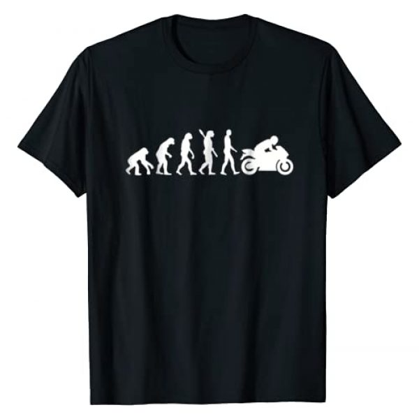 MOTORCYCLE T-SHIRTS Graphic Tshirt 1 Evolution motorcycle T-Shirt