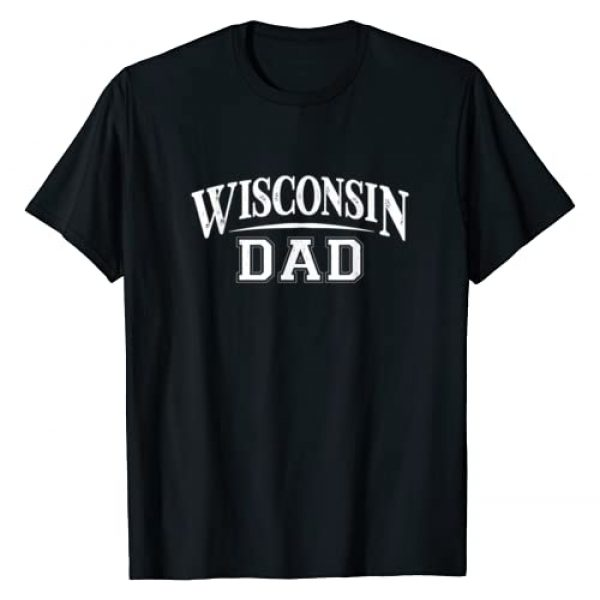 State Pride Novelty Shirts & Apparel Graphic Tshirt 1 Wisconsin Dad Badger State Stylish Art For Proud Father's T-Shirt