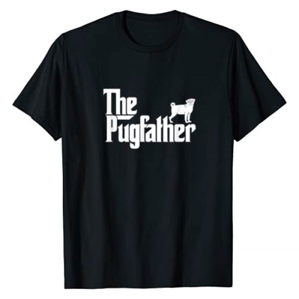 The Pugfather Pug Owner Dad Funny Tees Graphic Tshirt 1 Funny Pug Owner Shirt The Pugfather Pug Father Gift T-Shirt