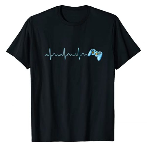 Heartbeat Gaming Apparel Graphic Tshirt 1 Gamer Heartbeat Gift For Video Game Lovers Teens Boys Girls T-Shirt