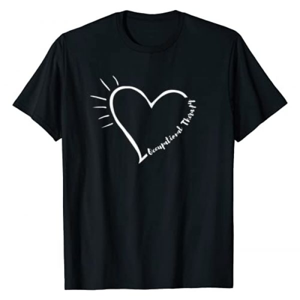 Occupational Therapy Apparel Graphic Tshirt 1 Heart Occupational Therapy Shirts, Cute OT OTA Gift Ideas T-Shirt