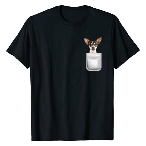 Love My Dog Shirts Graphic Tshirt 1 Rat Terrier Puppy Dog in Your Pocket T-Shirt