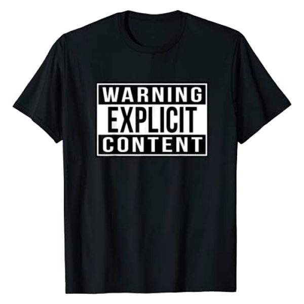 """""""Official"""" Straight Outta T-Shirts Graphic Tshirt 1 Warning Explicit Content T-Shirt"""