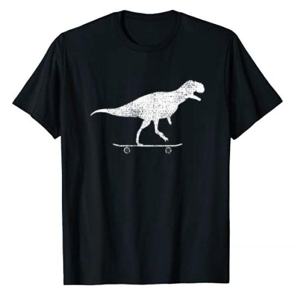 Longboard Dino Squad Graphic Tshirt 1 Skateboard Dino Gift Vintage T-Shirt