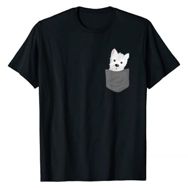 Funny Dog In A Pocket Gift Graphic Tshirt 1 Dog In A Pocket Cute Westie Terrier Lover Puppy T-Shirt