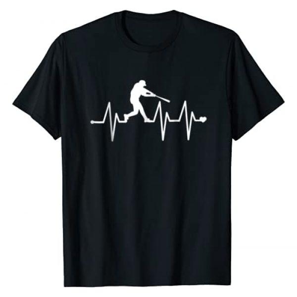 Baseball Life Tee Shirts Graphic Tshirt 1 Baseball Heartbeat Pulse Shirt - Funny Baseball T-Shirt