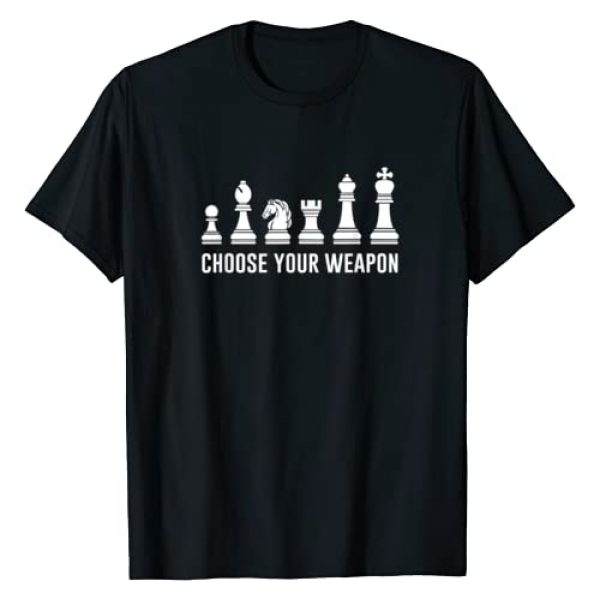 Chess Player T-Shirts Graphic Tshirt 1 Choose Your Weapon Funny Chess Pieces Shirt Chess Lover Tee T-Shirt
