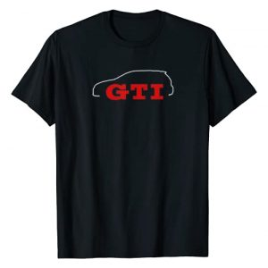 CarTees Graphic Tshirt 1 Car Tees GTI Outline T-Shirt