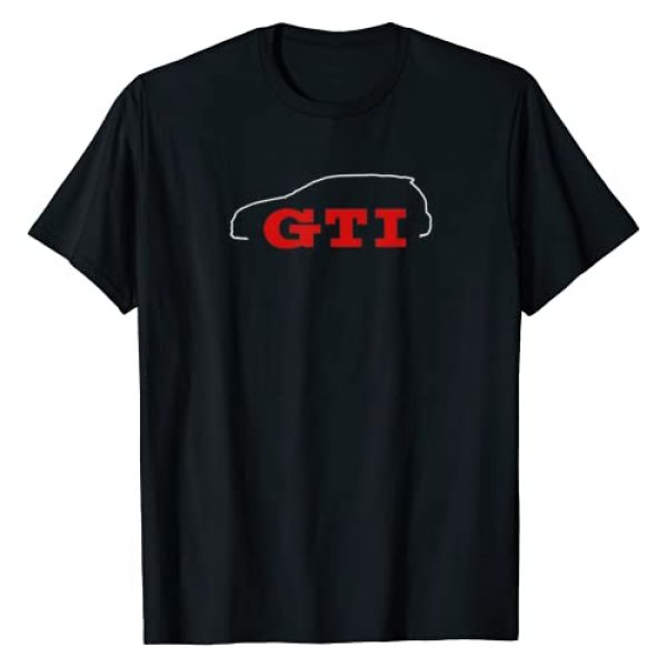 CarTees Graphic Tshirt 1 Car Tees GTI Outline T-Shirt