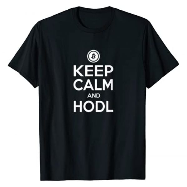 Bitcoin, Cryptocurrency & Blockchain Apparel Graphic Tshirt 1 Bitcoin Keep Calm And HODL T-Shirt