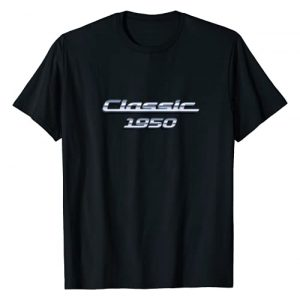 BORN Graphic Tshirt 1 Gift for 70 Year Old: Vintage Classic Car 1950 70th Birthday T-Shirt
