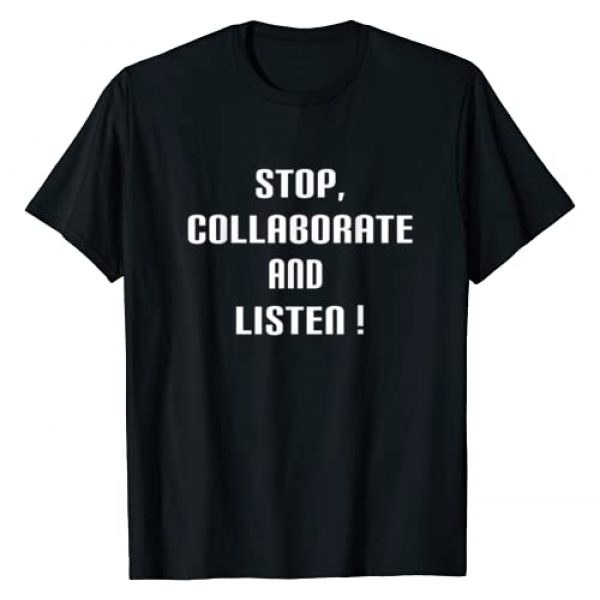 Stop, Collaborate and LIsten T-shirt Graphic Tshirt 1 Stop, Collaborate and LIsten Ice Ice Baby 90's Retro T-shirt