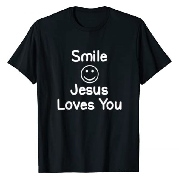 Encouraging Christian Quotes Graphic T-shirts Graphic Tshirt 1 Inspirational Smile Jesus Loves You T-shirt. Faith Tee