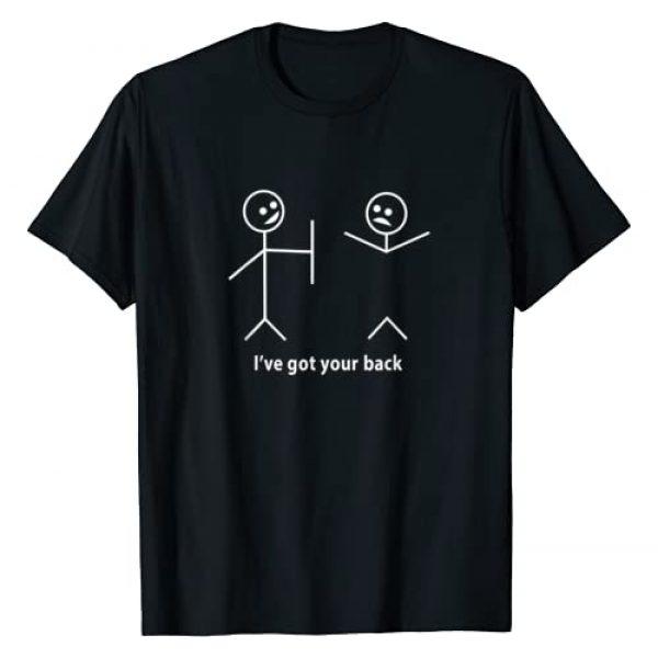 FunnyHumorTees Graphic Tshirt 1 Funny T-Shirt I Got Your Back Friendship Sarcastic Tee