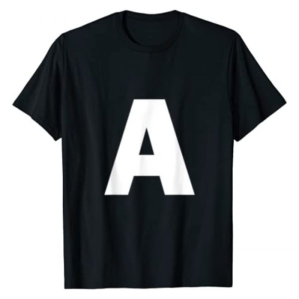 Letters and Numbers AtoZ123 Graphic Tshirt 1 Letter A Capital Alphabet Monogram Initial T-Shirt