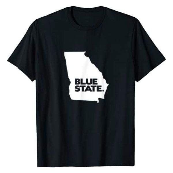 Blue State Democrats Graphic Tshirt 1 Turn Georgia Democratic | Democrat Blue State 2020 Election T-Shirt