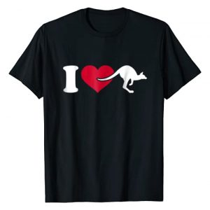 Kangaroo Tshirts Graphic Tshirt 1 I love kangaroo T-Shirt