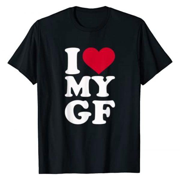 Girlfriend gifts Graphic Tshirt 1 I love my GF girlfriend T-Shirt