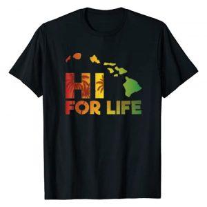 Mgs Hawaiian Designs Graphic Tshirt 1 Hawaii For Life Rasta Island Chain T-Shirt T-Shirt
