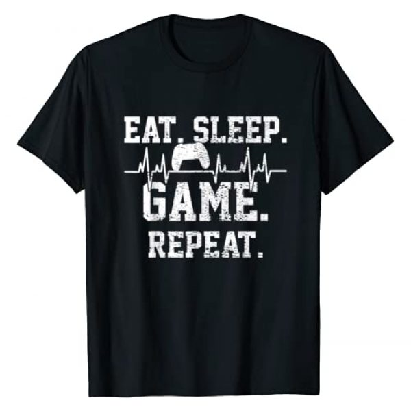Funny Games Presents Graphic Tshirt 1 Gaming Gamer Game Heartbeat Gift T-Shirt