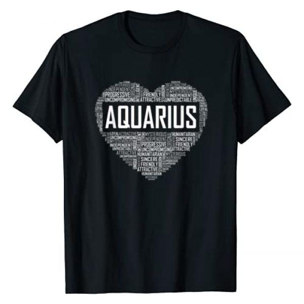 Love Aquarius Characteristics Tees Co Graphic Tshirt 1 Aquarius Zodiac Traits Horoscope Astrology Sign Gift Heart T-Shirt