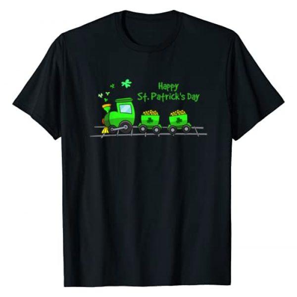 Irish St Patricks Day Train Shirts 360 Graphic Tshirt 1 Irish St Patricks Day Holiday Train Boys & Girls Shirt