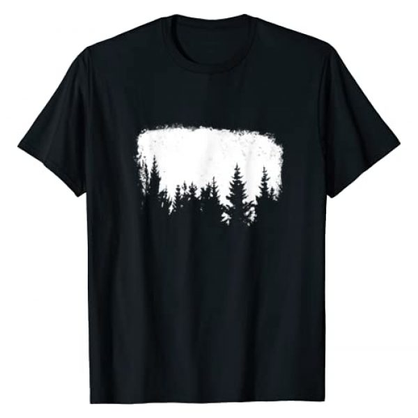 Mountain Life Outdoor & Forest Junkie Apparel Co. Graphic Tshirt 1 Minimalist Pine Tree Design World Traveler Graphic Clothing T-Shirt