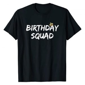 Funny Birthday Squad Co. Graphic Tshirt 1 Birthday Squad Cool Funny Bday Team Men Women Boy Girl Gift T-Shirt