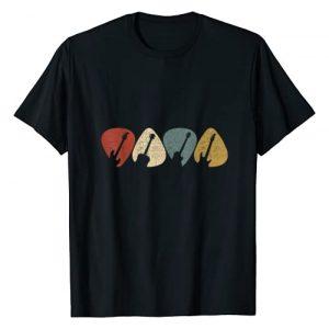 Vintage Guitar Graphic Tshirt 1 Guitar Pick Shirt Gift For Guitarist Retro Vintage T-Shirt