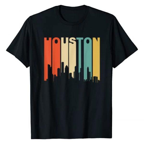 Classic Vintage Retro T-Shirts Graphic Tshirt 1 Retro 1970's Style Houston Texas Skyline T-Shirt