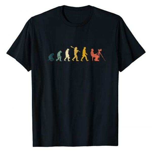 Evolution Of Cameraman Graphic Tshirt 1 Funny Filmmaker Film T Shirt Gift