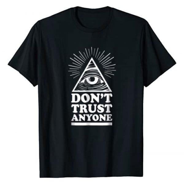 Outlet T-shirt Graphic Tshirt 1 Illuminati Don't Trust Anyone Eye of Providence T-Shirt