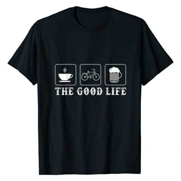 Cycling Bicycle Mountain Bike Tees And Gifts Graphic Tshirt 1 Funny Bicycle Beer Good Life Cycling T-Shirt