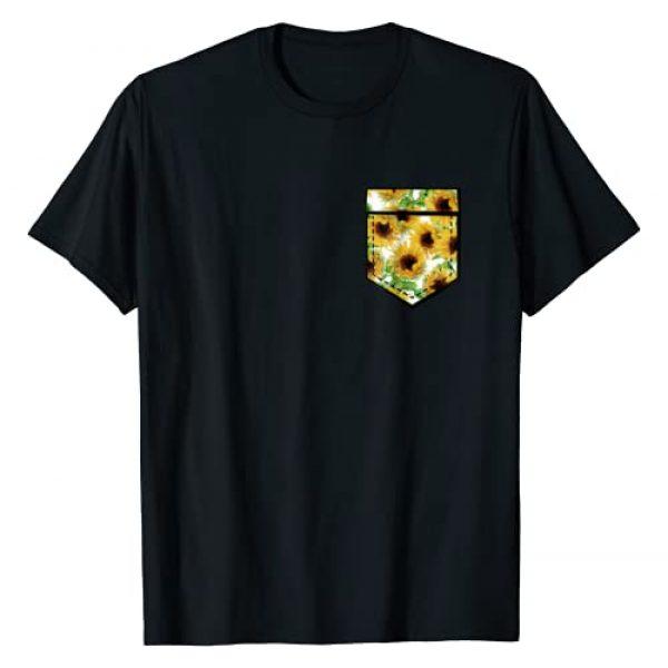Funny Flower Shirts Graphic Tshirt 1 Sunflower Tshirt Sunflower Aesthetic Pocket Print Shirt