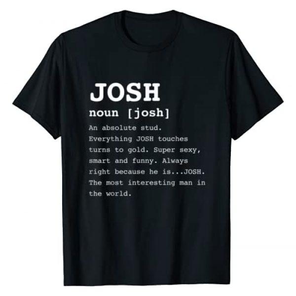 DTPDesigns Graphic Tshirt 1 Funny Name Definition Josh Shirt for Men Joshua TShirt