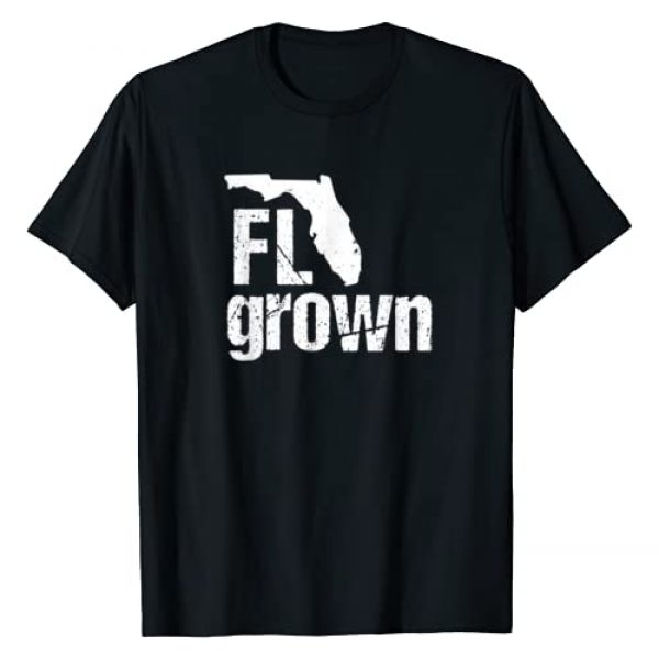 State Grown Gifts: Florida Graphic Tshirt 1 Florida Grown T-shirt FL Home State Shirt Distressed Gift T-Shirt